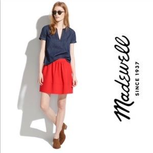 Madewell Red Ponte Skirt Size 8